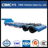 Cimc 2車軸半30トンの低いベッドのトレーラー