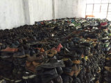 アフリカの摩耗のための使用された靴の人の偶然の公平に使用された平らな革靴