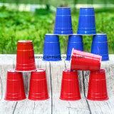 冷たい飲み物12oz PSプラスチック赤い党コップ