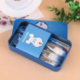 brosse de lecture 7PCS cosmétique avec le cadre bleu mignon de caisse en métal de Doraemon