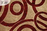 Tela roja de los muebles del Chenille con el modelo del círculo