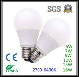승인되는 3W 4W 5W LED 전구 테일 모양 세륨