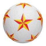 Шарик футбола размера проектно-конструкторский стандарта текстуры резиновый