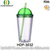 2017 самых новых 16oz BPA освобождают кружку сока льда, подгонянную пластичную чашку с сторновкой (HDP-3032)