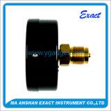 Manometro nero asciutto del collegamento della parte posteriore dell'acciaio di alta qualità