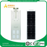 Tudo em uma luz de rua solar da lâmpada do diodo emissor de luz, luz de rua solar Integrated do diodo emissor de luz do jardim 40W