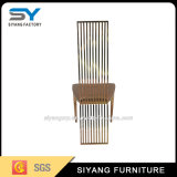 Cadeira de jantar de couro do metal moderno luxuoso do ouro do projeto