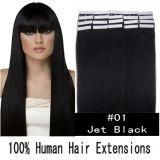 """fita 16 """" - 26 """" da qualidade 6A na extensão 100% do cabelo de Remi em linha reta"""