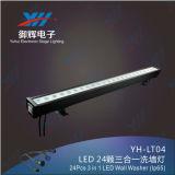 24 PCS von 3 in 1 professionellem im Freien wasserdichtem LED-Wand-Unterlegscheibe-Licht