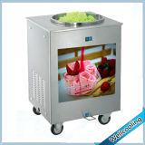 Le carter simple de vente populaire a roulé la machine de friture de crême glacée