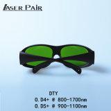 Gli occhiali di protezione del laser di vetro del laser Safet di DTY proteggono la lunghezza d'onda: 800 - 1700nm, 980nm, 1064nm, 1320nm, 1470nm per i diodi, ND: YAG