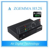 Receptor de satélite e decodificador profissional Zgemma H5.2s Linux OS DVB-S2 + S2 Twintuners com H. 265 / Hevc