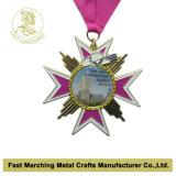 Medalha de ouro feita sob encomenda com corrente