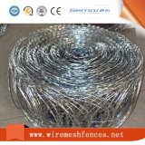 Esgrima de segurança Arame farpado de aço inoxidável com arame farpado