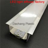 Perfil plástico del policarbonato para la tira del LED