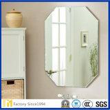 Rectángulo aluminio biselado LED espejo de la pared espejo espejo