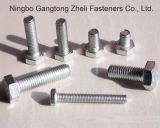 Горячий шестиугольник сбывания DIN933 польностью продетый нитку скрепляет болтами (HDG)