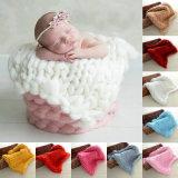 Рука одеяла младенца Knit большие шерсти Merino пряжи петли