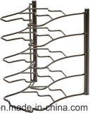 台所用品の表示記憶の棚のための5つの層の金属線ラック