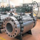 La bride de l'usine api 6D de la Chine a modifié le robinet à tournant sphérique en acier de tourillon