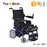 La sedia a rotelle d'acciaio di energia elettrica si leva in piedi in su