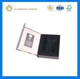 Caixa de empacotamento cosmética luxuosa da alta qualidade com divisor (com um espelho na parte traseira da tampa)