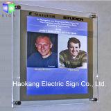 A1 매우 얇은 LED 가장자리 Lit 수정같은 사진 프레임은 장식적인 표시를 분명히한다