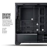 전력 공급 덮개를 가진 마이크로 ATX 소형 탑 도박 컴퓨터 상자