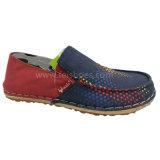 Новый стиль мода Мужских скольжения на обуви досуг Швы Холст обувь (MB9011)