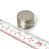 1.25 polegadas N52 forte diluem em volta do ímã do Neodymium com embalagem personalizada