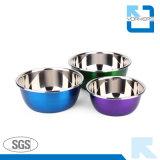 Cuvettes de mélange colorées d'acier inoxydable/de saladier/bols de potage
