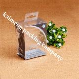 Do armazenamento plástico transparente do PVC da qualidade superior caixa de dobramento impressa logotipo para o pacote do creme de face