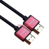 HDTV/Blu光線プレーヤー、3D/4k/2160pのためのイーサネットの高速は2.0 HDMIケーブルを細くする