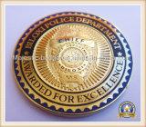 Полиции чеканят латунное умирают пораженная эмаль покрынная золотом трудная