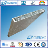 El panel de aluminio del panal del grano de madera para el uso exterior