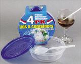 Le plastique rond emportent le conteneur de nourriture de Microwavable 15oz