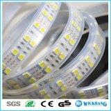 5m 두 배 줄 5050 SMD 120 LED/M RGB 백색 코드 LED 지구 빛