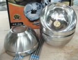 Bacia de mistura longa da sopa do aço inoxidável da garantia