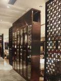 호텔 방 분할 위원회를 위한 장식적인 금속 스크린