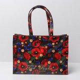 큰 크기 방수 PVC 빨간 꽃 패턴 쇼핑 백 (T044)