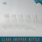 5ml Clear Child Proof Airless Glass Perfume Dropper Bottle