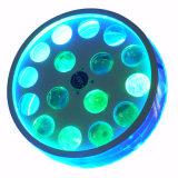 UFO DJ 16X3w RGBW освещает с мотором вращения для рождества