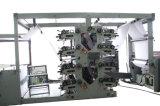 Stampa di Flexo di 8 colori e macchina per rigare la carta per la fabbricazione dei taccuini per il banco dalla bobina alle pagine