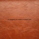 0.6 de 1.2mm do plutônio do PVC milímetros de couro de Upholstery para o sofá da mobília