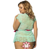 Femmes de lacet de prix de gros plus la lingerie sexy de taille avec la ceinture de maintien