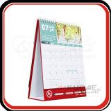 Calendário de mesa mensal de papel de arte 250GSM customizável