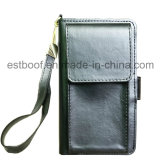 Malote e caixa de couro do telefone do plutônio da carteira