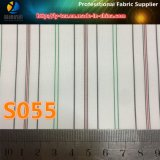 Forro da cor de Lignt na listra do poliéster para o forro do vestuário/terno (S55.56)