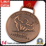 Médaille en alliage de zinc faite sur commande d'usine avec la grande forme