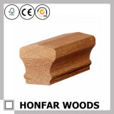 Balustrade en bois solide de modèle moderne pour la construction d'escalier
